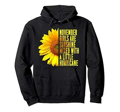 November Girls Birthday Sunflower Cute Gift For Women Girls Pullover Hoodie