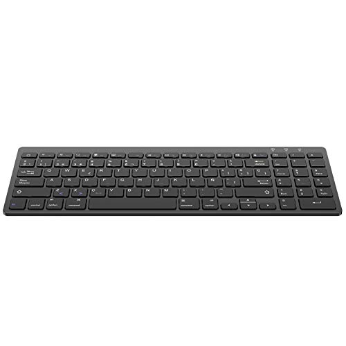 OMOTON Teclado Inalámbribo Compatible con iPad/iPad Pro/iPad Air/iPad Mini/iPhone y Todas Sistemas de iOS, con Teclado Numérico, Teclado en Español, Color Negro, NO Compatible con Windows ni Andorid