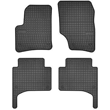 Tappetini in Gomma per VW Touareg di qualit/à Originale R-Line TDI V8 Modello dal 2010 4 Pezzi Colore: Nero. con Superficie Impermeabile e Bottone a Pressione per Il Fissaggio