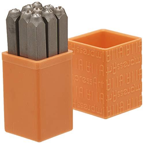 Basic Bridgette Number Metal Stamp Set, 3mm, ImpressArt
