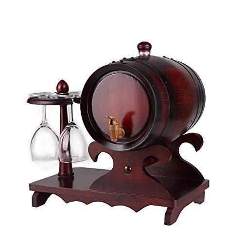 Barril De Vino De Roble, dispensador de Madera de Roble Vintage, for su Almacenamiento o crianza de vinos y licores (Color : B, Size : 1.5L)