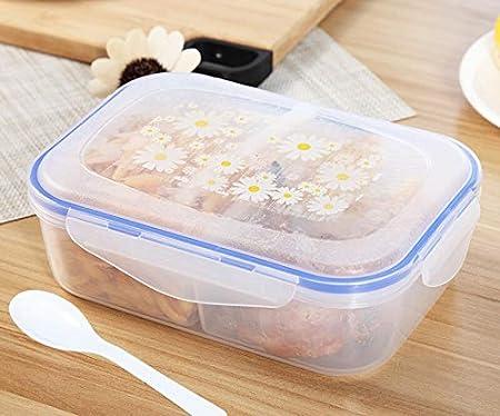 CHENCfanh Fiambrera 1000ml Comida Sana Caja de plástico Celular 3 Alimentación Cajones y Cajas Bento Microware Horno Lunchbox