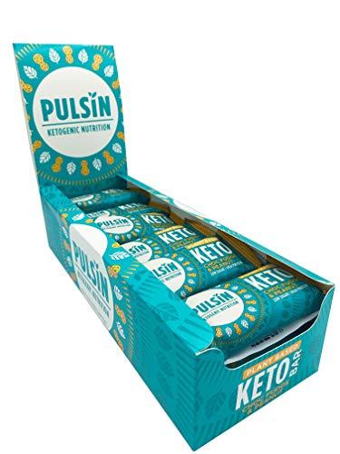 Pulsin Choc Fudge & Peanut Keto Bar Multipack with High Protein, Low Carb, Low Sugar, Gluten-Free, All Natural & Vegan Protein Bar – 18 x 50g Bars