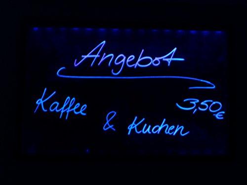 LED Memoboard mit Stift H70cm Schreibtafel Werbetafel Leuchtschild Leuchtreklame Tafel
