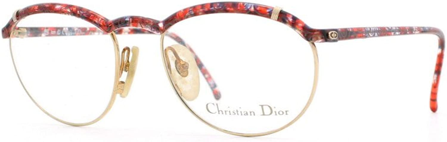 Christian Dior 2599 43 Red and Black Authentic Women Vintage Eyeglasses Frame