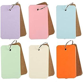 Kesote 単語帳 単語カード 暗記カード メモ帳 単語 テスト 効率アップ 6冊x50枚 6色 8.4x5.6cm
