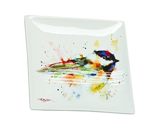 Demdaco Big Sky Carvers Chickadee Snack Plate, Multicolored