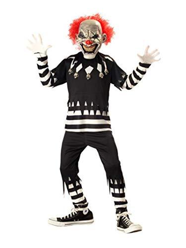 Creepy Clown Boy's Costume, X-Large, One Color