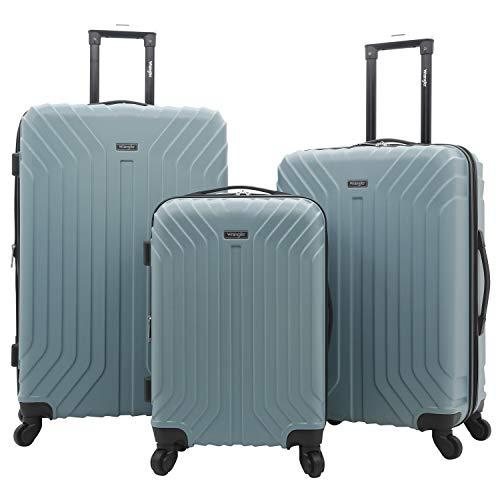 Wrangler Auburn Hills Luggage, Smoke Blue-3 Piece Set (28', 24', and 20')