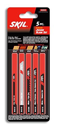 SKIL 94906 Wood U-shank Jig Saw Blade Set, 5 Piece