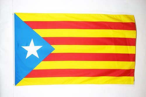 AZ FLAG Flagge KATALONIEN ESTELADA BLAVA 90x60cm - AUTONOMEN KATALANISCHEN Fahne 60 x 90 cm - flaggen Top Qualität