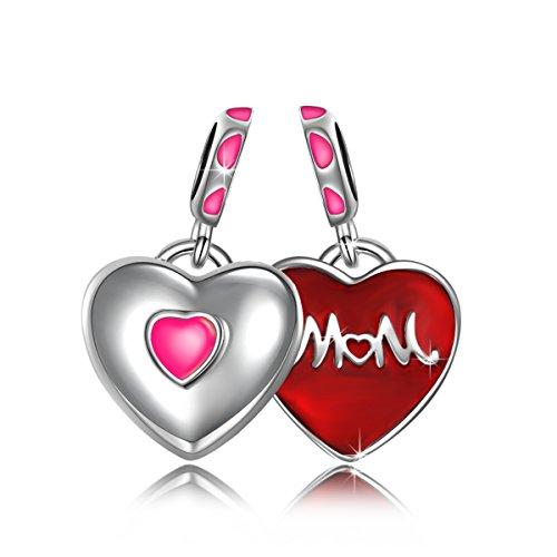 NINAQUEEN Charm Pandora Adattarsi Amore Madre Idee Regalo Donna Argento 925 Smalto Perline per la Madre Fidanzata Moglie