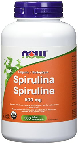 NOW Organic Spirulina Tablets, 500mg, 500 Count