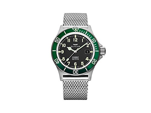 Glycine Combat Mens Analog Automatic Watch with Stainless Steel Bracelet GL0091