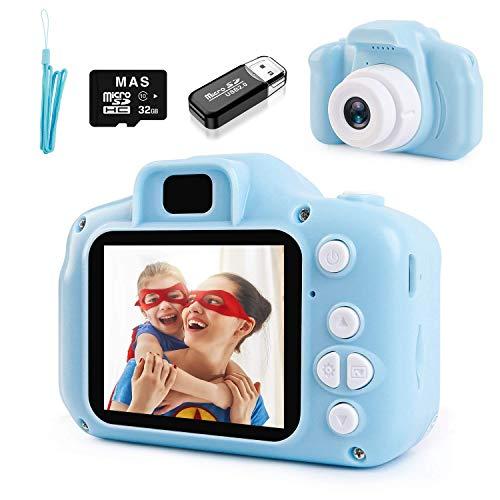 NIERBO Cámara para niños 3.0MP 1080P HD Mini cámara de Video Digital para niños Regalos de Juguete de cumpleaños Recargables con Tarjeta de Memoria de 32GB, Pantalla IPS de 2'
