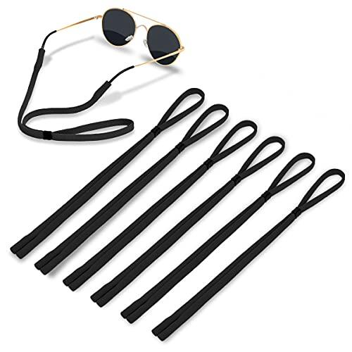 Glasses Strap - Soft Comfortable Elastic Nylon Glasses Holder (Pack of 6) Sports Adjustable Sunglass Strap for Men Women