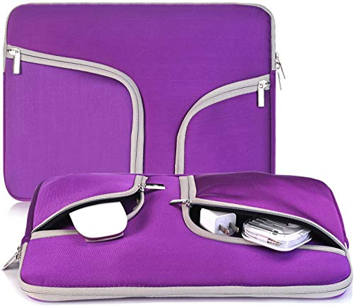 Egiant 11.6 inch Laptop Sleeve Bag, Water-Resistant Protective Bag Compatible MacBook 12 Retina,Chromebook 11.6,HP Stream 11,Surface Pro 3 4 5 6 7,Computer Notebook Carrying Cases with 2 Pocket-PURPLE