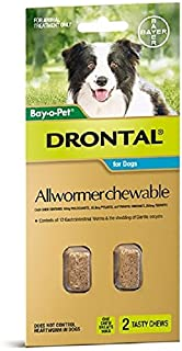 Drontal Allwormer for Dogs, 20 Count
