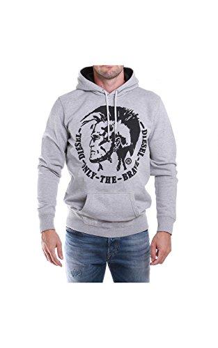 Diesel Herren S-Agnes-Patch Sweat-Shirt Pullover, grau (912), M