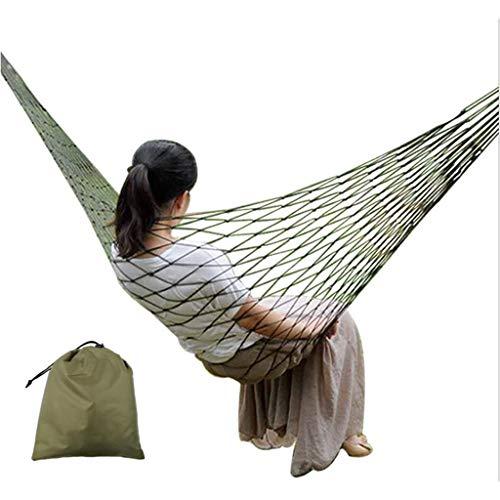Shefii Hamaca portátil de nylon para coser silla de malla para colgar cama individual