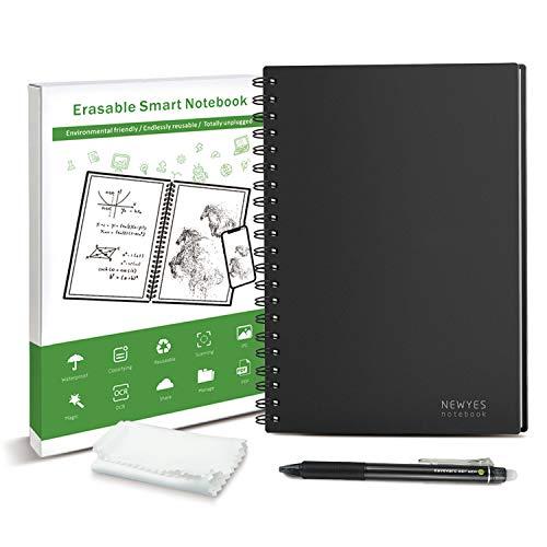 半永久的に使えるノート A5 スマートノート 耐水 濡れた布で消せる Everlast 電子ノート 消せるノート 文房具 おもしろ NEWYES ドット入り罫線 データ管理機能付き エコ 500回繰り返し使える 一年保証付き (A5)