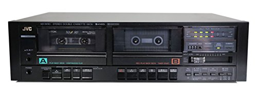 JVC KD-W110 Doppelkassettendeck in schwarz