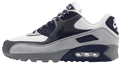 Nike Men's AIR MAX 90 NRG Running Shoe, White Neutral Indigo Smoke Grey, 7.5 UK