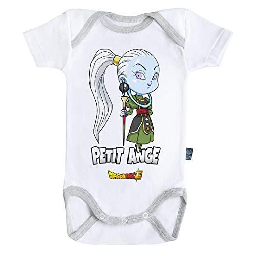 Baby Geek Petit Ángel – Vados – Dragon Ball Super – Body para bebé de manga corta – Licencia oficial gris 12-18 Meses