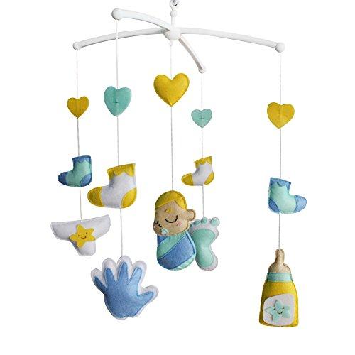 Décoration de pépinière de cadeau de jouet mobile de lit de bébé fait main pour 0-2 ans, MQ11