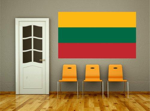 Kiwistar Wandtattoo Sticker Fahne Flagge Aufkleber Litauen 120 x 72cm