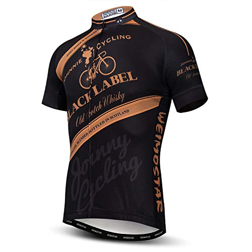 JPOJPO Cycling Jersey Men Short Sleeve Bike Shirt with Pockets Bicycle Clothing XXL