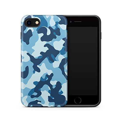 Cujas iPhone SE 2020 und iPhone 8/7 kompatible Hülle, Weiche Camouflage TPU Silikon Schutzhülle Blickdicht mit IMD Technologie Camo Militär Muster Hülle Schutz Handyhülle (iPhone SE 2020/7 / 8 Blau)