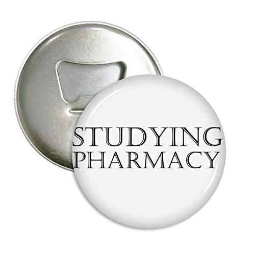 Corta estudiar farmacia redondo abridor de botellas imán de nevera Pin botón 3piezas Regalo