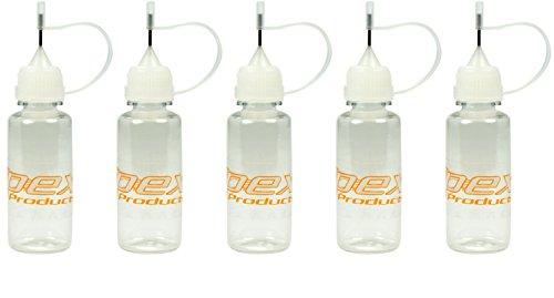 Price comparison product image Apex RC Products 15ml / .5oz Oil / Fluid Dropper Plastic Bottle W / Needle Tip - 5 Pack 2101