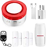 TUYA Smart Home Security Alarm Siren System, Hacevida T1 Wireless WiFi Burglar Siren Alarms, Compatible with Alexa and Google Assistant/APP Alarm Push/Custom-named/Timing Setting