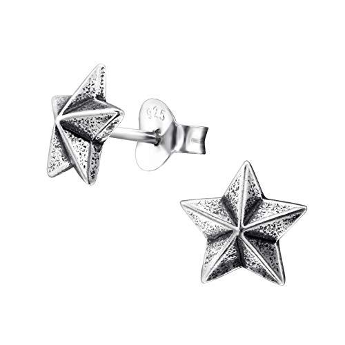 Monkimau Orecchini bambina Orecchini a stella in argento sterling 925