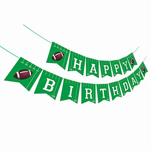 Football Happy Birthday Banner,Football Birthday Party Bunting Banner, Happy Birthday Sports Party Decorations