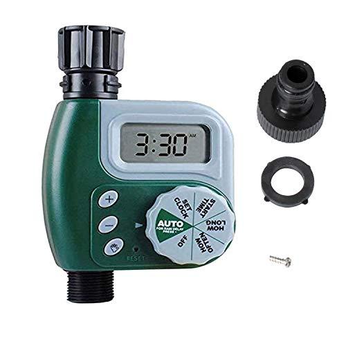 Poweka Programador de Grifo Digital, Automático Temporizador de Grifo Controlador de Agua de Rriego Controlador Programable Temporizador para Jardín Sistema de Irrigación