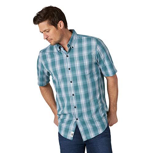 Wrangler Authentics - Camicia da uomo a maniche corte in tessuto scozzese - - S