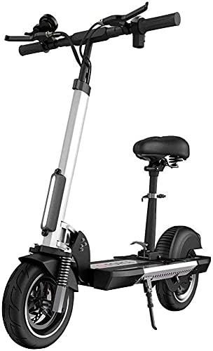 LLKK Scooter universal eléctrico, alto rendimiento 34 MPH velocidad máxima plegable y portátil E apoyo control de crucero y carga USB