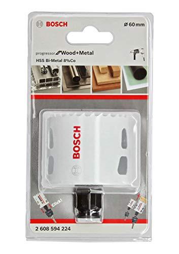 Bosch Professional Lochsäge Progressor for Wood & Metal (Holz und Metall, Ø 60 mm, Zubehör Bohrmaschine)