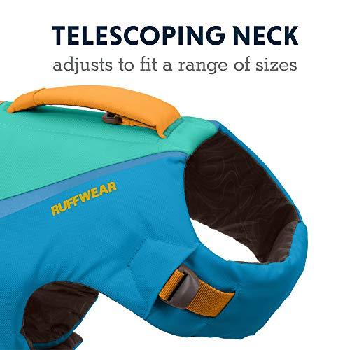 RUFFWEAR, Float Coat Dog Life Jacket, Swimming Safety Vest with Handle, Blue Dusk, Large