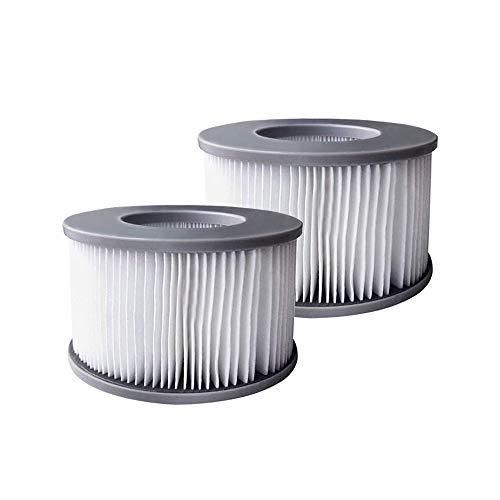YanBan 2 x Whirlpool-Filter für MSpa aufblasbare Pools, verbesserte Version, geeignet für MSPA alle aktuellen Whirlpools.