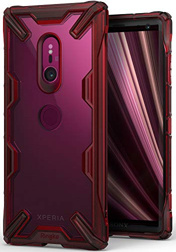 Ringke Fusion-X Compatible with Xperia XZ3 Case Ergonomic Transparent Military Drop Tested Defense Hard PC Back TPU Bumper Impact Resistant Protection Cover for Sony Xperia XZ3 - Ruby Red