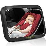 Espejo De Coche De Bebé - 180 Vista Amplia Asiento De Coche Espejo - Inastillable Seguridad Del Bebé Espejo Retrovisor - Clara Espejo Para Asiento De Coche para Orientado hacia atrás infante