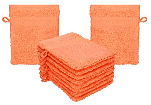 Betz 10 Manoplas de baño Premium 100% algodón 16x21cm (Naranja sanguíneo)