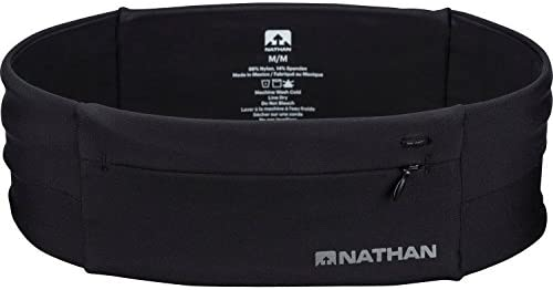 Nathan Zipster Running Belt Bounce Free Waist Pack Pockets with Zippers Runners Fanny Pack Fits product image