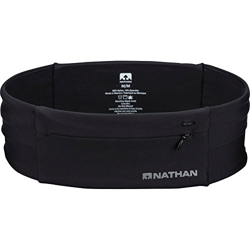 Nathan Zipster Running Belt.Bounce Free Waist Pack. Pockets with Zippers. Runners Fanny Pack. Fits All iPhones, Android, Samsung etc. for Men and Women