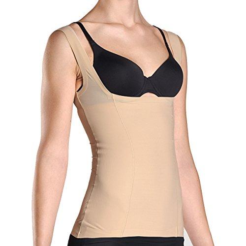 Kasheer ShapeShirt   Damen Shapewear   Figurformendes Unterhemd mit offener Büste für eigenen BH, Haut Gr. 38