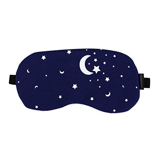 ROSENICE Schlafmaske mit Kühlkissen verstellbarer Schlaf Augenmaske Augenbinde (Sternenhimmel)